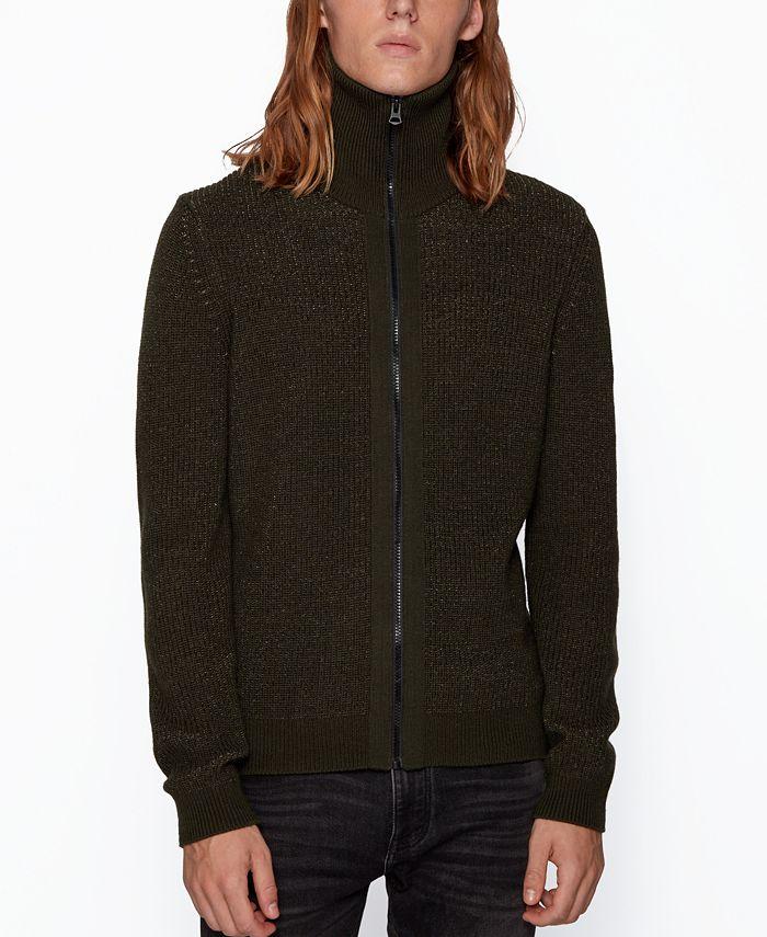 Hugo Boss - Men's Kelbow Regular-Fit Knitted Jacket