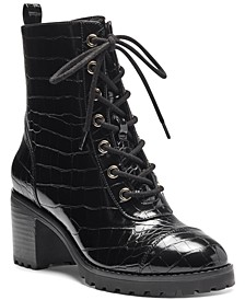 INC Women's Samira Lace-Up Booties, Created for Macy's