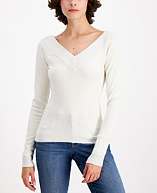 Metallic-Trim Sweater