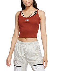 Women's Femme Ribbed Cropped Tank Top