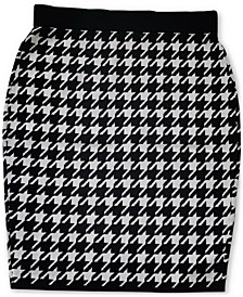 Houndstooth Sweater Skirt, Created for Macy's