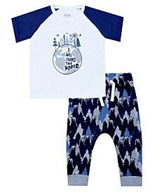 Earth Organic Baby Boy 2-Piece Paul Legging Set