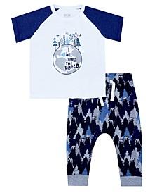 Organic Baby Boy 2-Piece Paul Legging Set