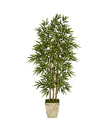 Bamboo Artificial Tree in Country Planter