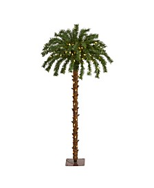 Christmas Palm Artificial Tree with 150 Warm LED Lights