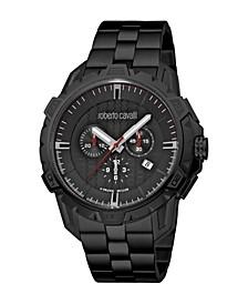 by Franck Muller Men's Swiss Quartz Black Stainless Steel Bracelet Watch 45mm