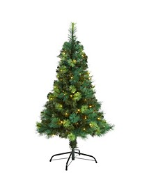 Assorted Scotch Pine Artificial Christmas Tree with 70 LED Lights