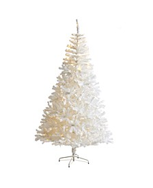 Artificial Christmas Tree with 1000 Bendable Branches and 350 Clear LED Lights