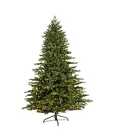 Wyoming Spruce Artificial Christmas Tree with 650 Clear LED Lights and 1701 Bendable Branches