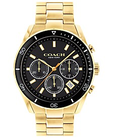 Men's Preston Chronograph Gold-Tone Bracelet Watch 44mm