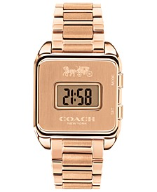 Women's Darcy Digital Rose Gold-Tone Bracelet Watch 37x30mm