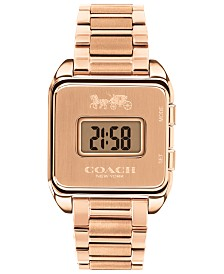 Women's Darcy Digital Rose Gold-Tone Bracelet Watch 37x30mm
