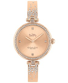 Women's Park Rose Gold-Tone Bangle Bracelet Watch 30mm