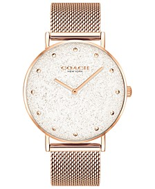 Women's Perry Rose Gold-Tone Mesh Bracelet Watch 36mm