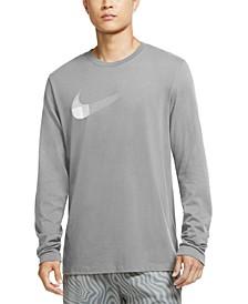 Men's Dri-FIT Long-Sleeve Swoosh T-Shirt