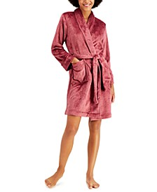 Short Floral Cozy Robe, Created for Macy's