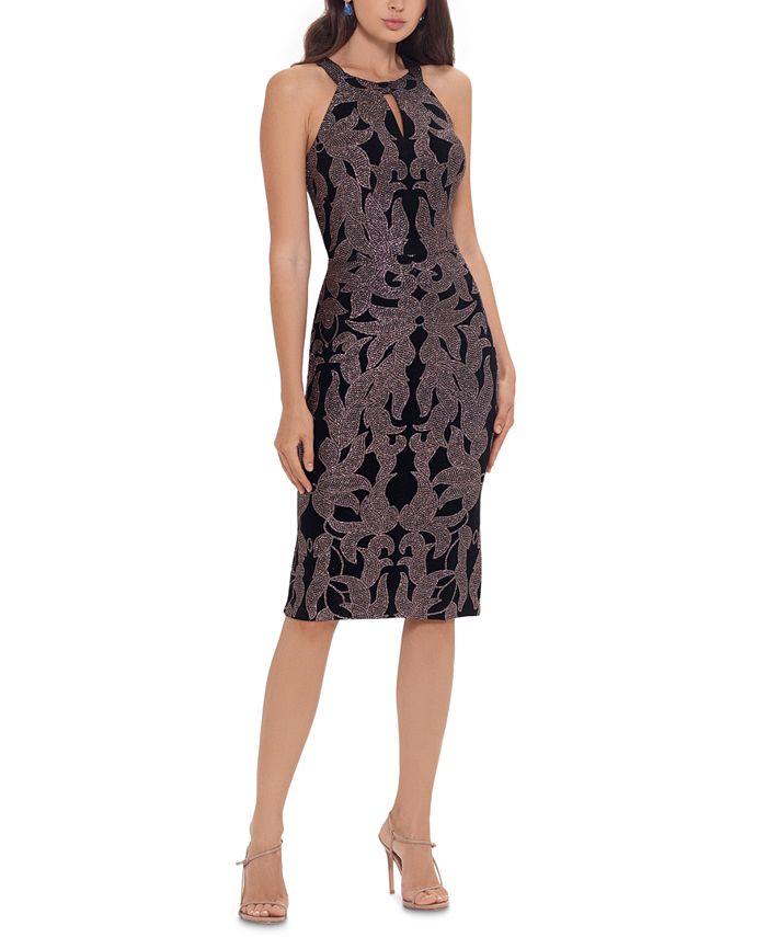 Betsy & Adam - Glitter-Print Bodycon Dress