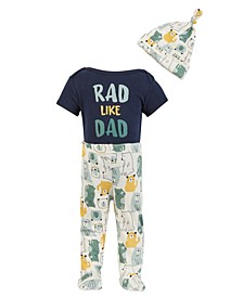 Chick Pea Baby Boy 3pc Rad Like Dad Pants Set