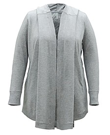 Plus Size Open-Front Warm-Up Sweater, Created for Macy's