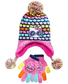 Girls 2-Pc. Hello Kitty Hat & Gloves Set