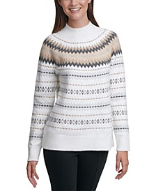 Fair Isle Mock-Neck Sweater
