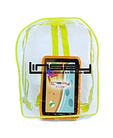 New Android 10 Tablet Kids Funny with Defender Case and Bag Pack