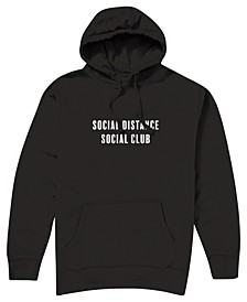 Men's Social Distance Social Club Hooded Fleece Sweatshirt