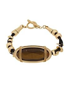 Tiger Eye Leather Bracelet