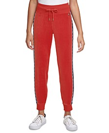 Colorblocked Pull-On Jogger Pants