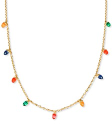 "INC Gold-Tone Multicolor Lightbulb Strand Necklace, 36"" + 3"" extender, Created for Macy's"