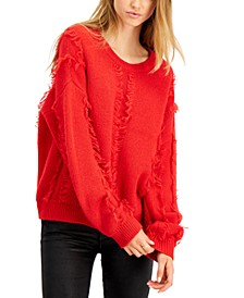 Frayed Crewneck Sweater, Created for Macy's