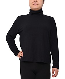 Trendy Plus Size Turtleneck Top