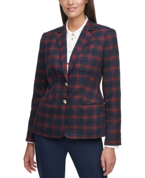 1930s Style Clothing and Fashion Tommy Hilfiger Plaid Blazer $139.00 AT vintagedancer.com
