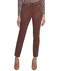 Faux-Suede Ankle Pants