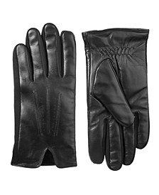 Men's Stretch Leather Touchscreen Gloves