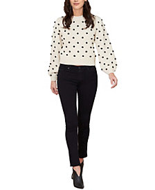 Women's Pom Pom Puff Sleeve Sweater (57% Off) -- Comparable Value $69