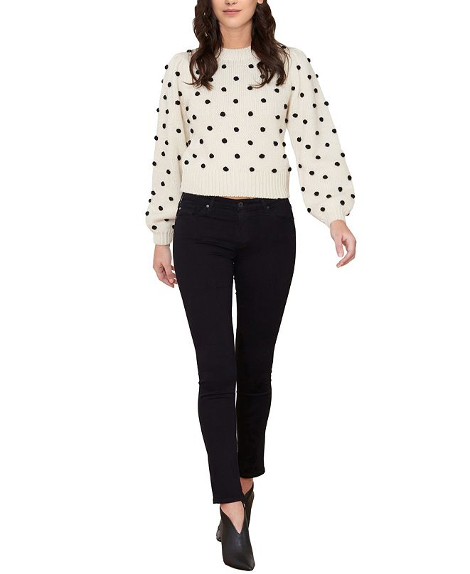 Cliche Women's Pom Pom Puff Sleeve Sweater (57% Off) -- Comparable Value $69
