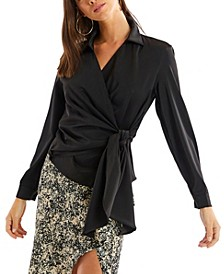 Women's Faux Wrap Blouse
