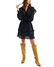 Women's Eyelet Mini Dress