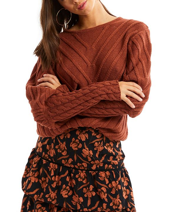 ALLISON NEW YORK Women's Puff Sleeve Sweater