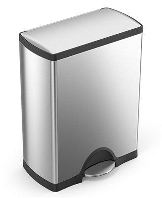 simplehuman brushed stainless steel 50 liter fingerprint proof