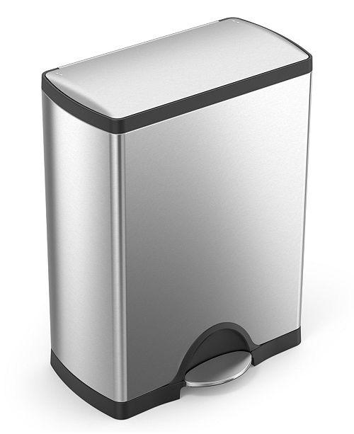 Simplehuman Brushed Stainless Steel 50 Liter Fingerprint