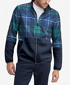 Men's Caleb Pieced Colorblocked Plaid Full-Zip Sweatshirt
