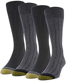 Men's 4-Pack Casual Rib Socks