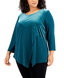 Plus Size Asymmetrical Tunic Top, Created for Macy's