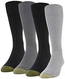 Men's 4-Pack Basket Weave & Rib Socks