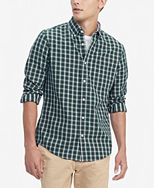 Men's Donny Classic-Fit TH Flex Stretch Mini-Tartan Shirt