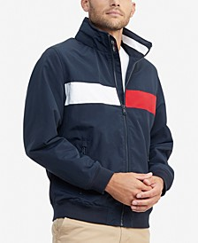 Men's Creek Pieced Colorblocked Yacht Jacket with Zip-Out Hood