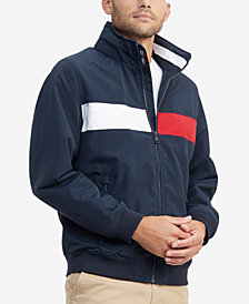 Tommy Hilfiger Men's Creek Pieced Colorblocked Yacht Jacket with Zip-Out Hood