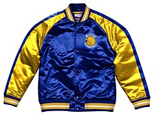 Men's Golden State Warriors Colorblock Lightweight Satin Jacket